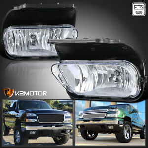 For 2003 2006 Chevy Silverado 1500 2500 Clear Driving Fog Lights Lamps Switch