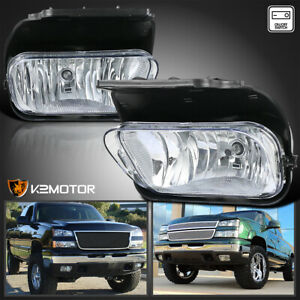 For 2003 2006 Chevy Silverado 1500 2500 3500 Clear Driving Fog Lights W Switch