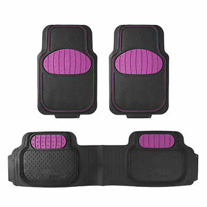 Auto Floor Mats Full Set 3pcs For Car Suv Vans 7 Color Options Universal