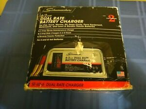Schumacher Battery Charger Manual dual Rate Se 82 6 Free Shipping