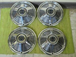 Nos 1965 Ford Mustang Hubcaps 13 Set Of 4 Wheel Covers 65 Hub Caps