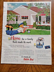 1954 Dutch Boy Paints Ad   Home for a Family that's made its Mark