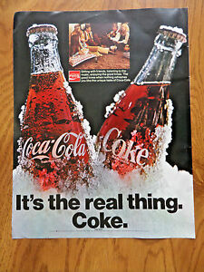 1971 Coke Coca-Cola Ad  Sitting With Friends Listening to the Music