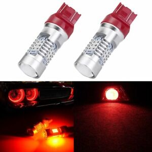 2x Red 7440 7441 7443 7444 992 T20 Cree Led Lamp Brake Tail Stop Light Drl Bulbs
