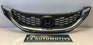 2013 2014 2015 Honda Civic Front Grille 71121tr3a0 Oem Grill K169