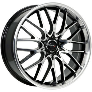 4 drifz 302mb Vortex 16x7 5x100 5x4 5 42mm Black machined Wheels Rims 16 Inch