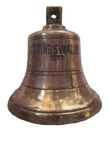 Vintage Geringswalde 1977 Made Marine Brass Bell Ship S 100 Original 258