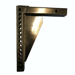 Prime Steel Adjustible Trailer Hitch Tow Shank 2 Receiver 14 Hole