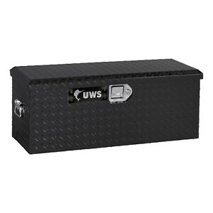 Uws 32in Atv Tool Box Single Lid With Handles Gloss Black Powder Coat
