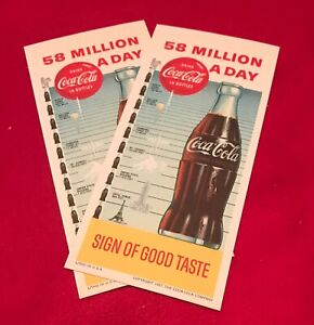 1950's Coca Cola Assorted Marketing Items - Ink Blotters - Advertising