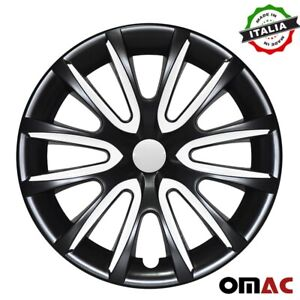 16 Inch Hubcaps Wheel Rim Cover Black With White For Toyota Camry 4pcs Set