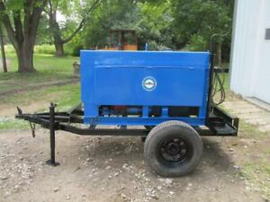 Miller Big 40 Portable Gas Dc Arc Stick Welder Generator 120 300 Amp W trailer
