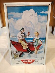 Coca Cola Tin Metal Sign 15