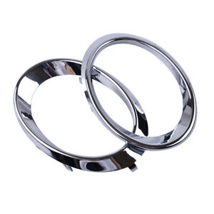 Fit For Audi Q5 2010 2012 Chrome Front Fog Lamp Driving Light Cover Trim Ring