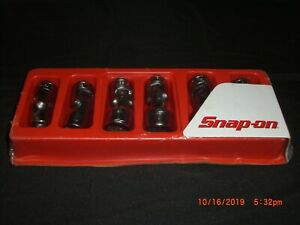 Snap On Tools 6 Piece 3 8 Drive 12 point Sae Universal Socket Set 206fua new