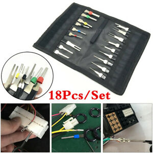 18x Pins Terminal Repair Removal Key Tools Kit Auto Car Wire Connector Extractor