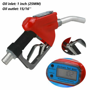 25mm Trubine Mechanical Gas Diesel Digital Fuel Nozzle W Digital Flow Meter