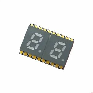 0 2 2 Digit 7 segment Led Display Smd Surface Mount Common Anode Blue