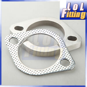 3 Stainless Steel Exhaust Downpipe Flange Gasket 2 Hole Bolt Us Stock