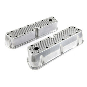 Fits Ford Sb 289 302 351 Windsor Polished Ribbed Aluminum Valve Covers Tall