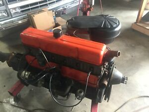 1960 Chevy 235 L6 Straight 6 Cylinder Engine W 3 Speed Manual Transmission