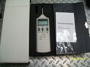 New Extech 407735 Digital Sound Level Meter With Case