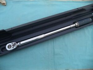 Snap On 1 2 Fixed Head Click Torque Wrench qjr 3200 30 200ft lb W case Nice