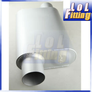 Single Chamber Exhaust Muffler 3 Inch Offset Inlet outlet Us Stock