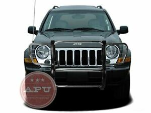 Apu Fits 02 07 Jeep Liberty Stainless Grille Bumper Brush Guard