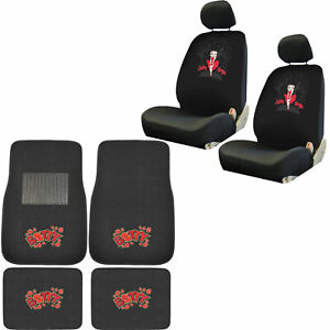 New Premium Pink Butterfly Car 2 Front Bucket Seat Covers Set