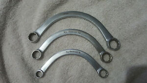 Snap On 12 Point Half Moon Box End Wrench Set 3 Piece