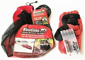 Kingcord 3 4 X 20 Kinetic Energy Atv Car Recovery Tow Rope 16000lb Strap Snatch