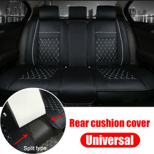 Us Car Seat Cover Pu Leather Rear Seats Bench Cushion Mat Split Type For 5 Seat