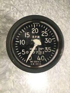 Stewart Warner Military Tank Truck Tachometer Tach Jeep Bobber Hot Rat Rod Sw