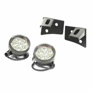 Rugged Ridge Windshield Hinge Light Brackets W Led Lights Jeep Jk 11027 11