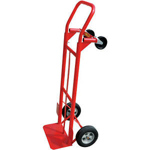 Hand Truck 2 in 1 Convertible Trolley Wheels Cart Metal Moving 600 Lb Capacity