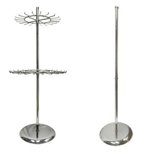 Revolving Tie Rack Scarf Clothes Rack Rotating Garment Hanger Chrome Finish