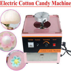 Electric Cotton Candy Machine Floss Maker Commercial Carnival Party Kid Pink Fda