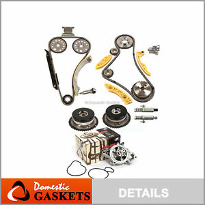 Timing Chain Kit Vct Selenoid Actuator Gear Water Pump Fits Gm Ecotec 2 0l 2 4l