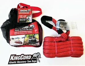 Kingcord 7 8 X 20 Kinetic Energy Jeep 4x4 Truck Tow Rope 24700 Lb Strap Snatch