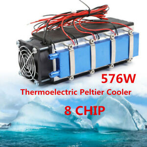 Peltier Cooler 8 Chip Tec1 12706 Diy 12v 576w Thermoelectric Air Cooling Devices