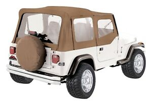 Crown Automotive Rt10037 Replacement Soft Top 87 95 Wrangler Yj
