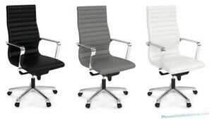 Lot Of 10 Modern Office Desk Conference Chairs Black Gray Or White Free Shipping