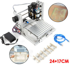 Mini Cnc2417 Engraver Machine Dc12v 5a Diy Desktop Carve Pcb Wood