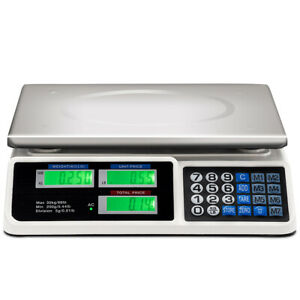 66lbs Digital Weight Scale Price Computing Super Market Retail Count