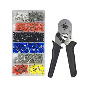Vlike Ferrule Crimper Pliers Set Wire Crimping Tool Kit With 1200 Terminal For