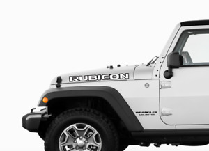 Jeep Rubicon Hood Decals Stickers Graphics Wrangler Jl 2 X 23 Fits 2018 Models