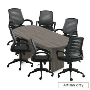 Gof 8ft Conference Table And 6 Chair Set Grey g10902b Chair Only Available