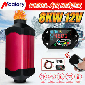 Metal 8kw 12v Lcd Thermostat Diesel Air Heater Control For Boat Truck Trailer Us
