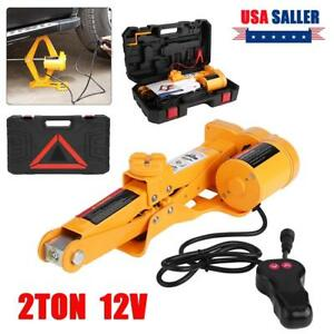 2 Ton Electric Car Jack Dc 12v All in one Automatic Suv Lift Scissor Repair Tool